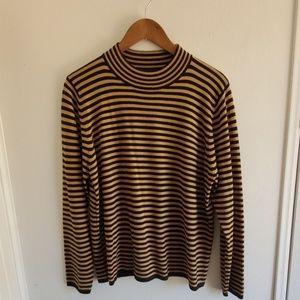 SAG HARBOR | Striped Sweater Sz Large